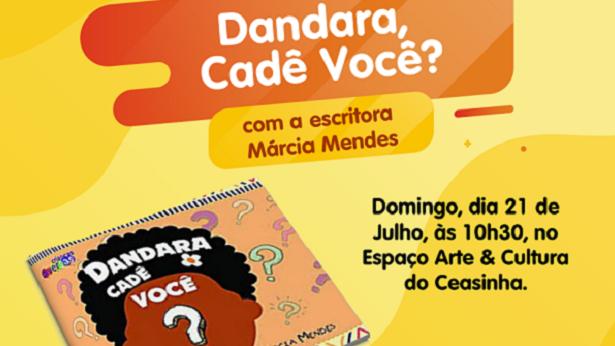 """Salvador: Escritora Márcia Mendes apresenta neste domingo o enredo do livro """"Dandara Cadê Você?"""" - salvador, literatura"""