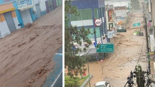 Ubaíra: Forte chuva causa estragos em ruas da cidade - ubaira, noticias, destaque