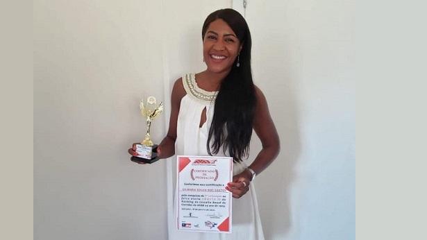 SAJ: Atleta Mara Souza recebe premiação da AVAB em Salvador - saj, noticias, destaque