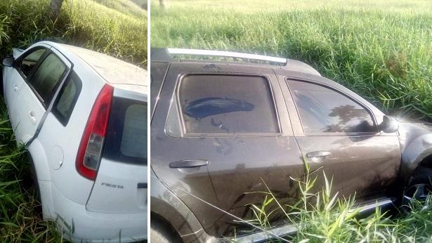 Carros com placas de SAJ são abandonados em Santana do Rio da Dona - saj, destaque, conceicao-do-almeida