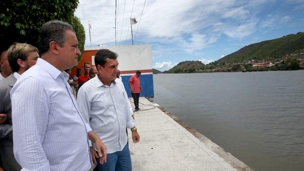 Cachoeira: Rui inaugura sistema de abastecimento de água e autoriza construção de Terminal Turístico - cachoeira