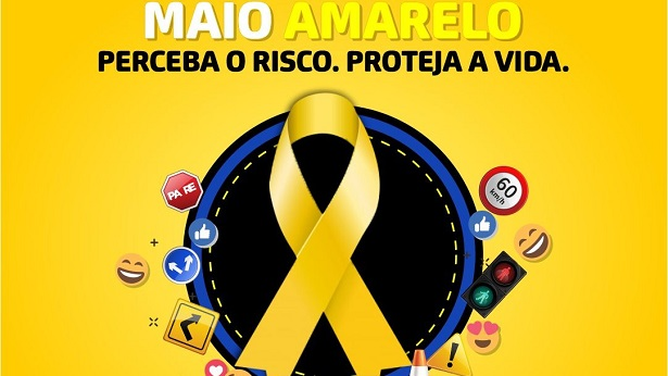 """SAJ: LIVE de abertura da campanha digital """"Maio Amarelo"""" acontece nesta quarta, 29 - saj, internet"""