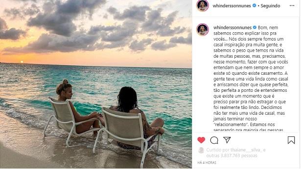 Casamento de Whindersson Nunes e Luísa Sonza chega ao fim - celebridade