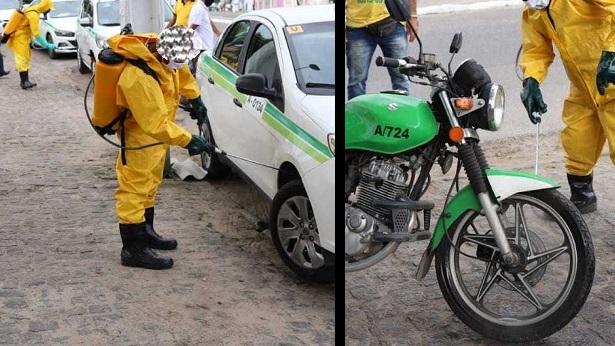 SAJ: Veículos passam por desinfecção durante o Drive-thru - saj, noticias, destaque