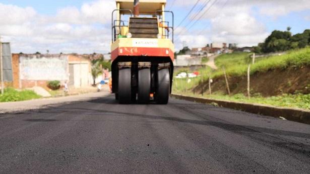 SAJ: Iniciada obra de pavimentação asfáltica da Avenida Heitor Lírio de Melo - saj