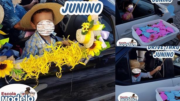SAJ: Escola Modelo encerra semestre com drive-thru junino - saj, noticias, destaque