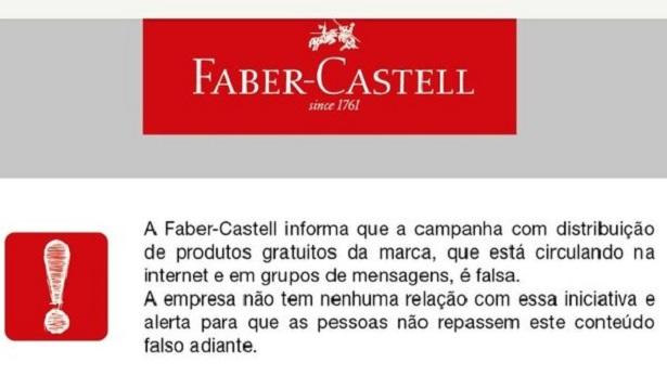 É falsa campanha de doação de lápis de cor e livro de colorir, alerta Faber-Castell - brasil
