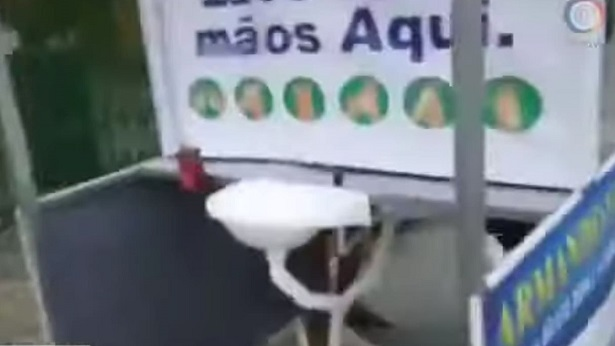 Amargosa: Empresa instala lavatório público na feira-livre - destaque, amargosa