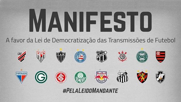 Clubes da Série A divulgam manifesto a favor da lei que modifica transmissões de futebol - esporte