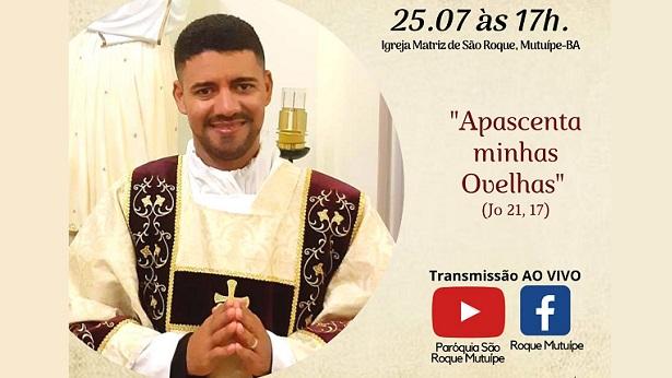 Mutuípe: Ordenação Presbiteral do Diácono Adivan Pereira será no dia 25 - noticias, mutuipe, catolico