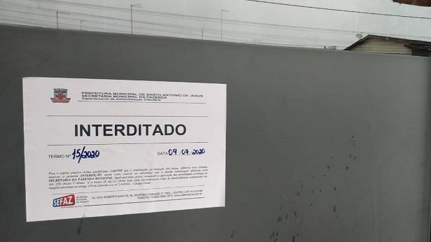 SAJ: Mais estabelecimentos são interditados por descumprirem decreto municipal - saj, noticias