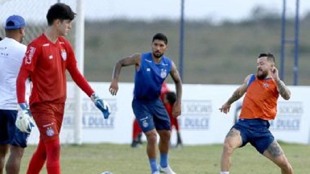 Com Rossi no campo, Bahia finaliza preparação para 1º jogo contra o Ceará - esporte