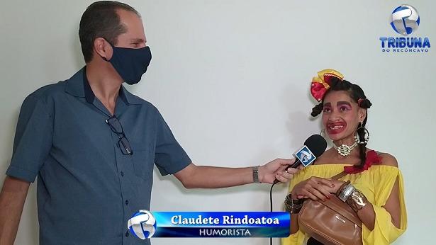 VÍDEO: A mais nova humorista brasileira é de SAJ, Claudete Rindoatoa - videos, saj, noticias, destaque