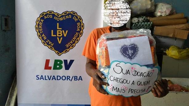 SAJ: LBV doa uma tonelada de alimentos para catadores de materiais recicláveis - saj, noticias, destaque