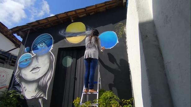Aracaju e Nazaré: Grafiteira lança webdocumentário sobre representação feminina nas artes - noticias, nazare, destaque