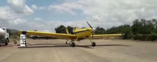 Tartaruga: Aviões combatem fogo em serra - milagres