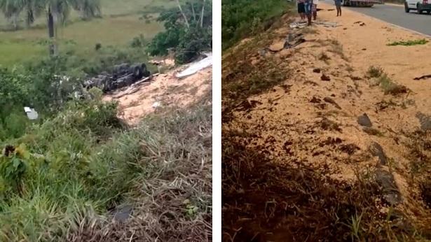 Colisão entre camionete e carreta deixa vítimas fatais próximo ao Entroncamento de Valença - presidente-tancredo-neves, destaque, transito