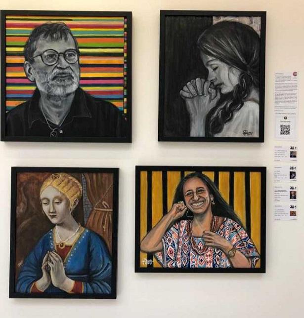 Obras de Gêiza Barreto estão expostas com as de outros 49 artistas em São Paulo - noticias, literatura