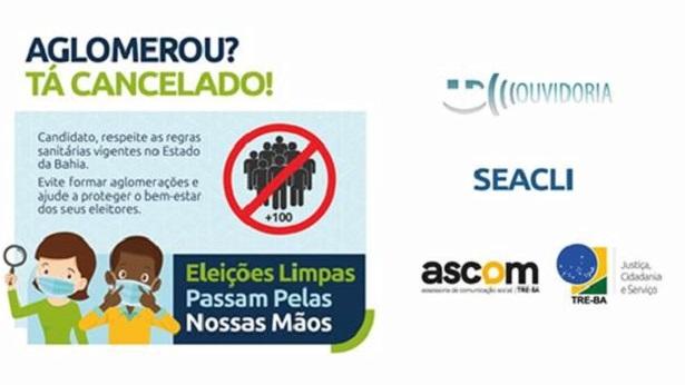 TRE-BA alerta candidatos com campanha de conscientização para a realização de eleições seguras - brasil