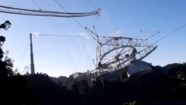 Telescópio usado por astrônomos do mundo inteiro desaba em Porto Rico - mundo, ciencia, transito