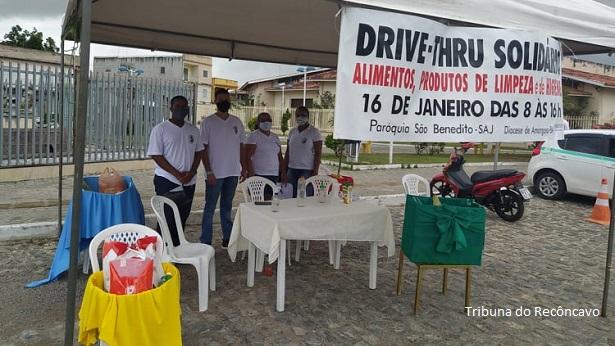 SAJ: Paróquia São Benedito realiza Drive Thru Solidário neste sábado - saj, noticias, destaque