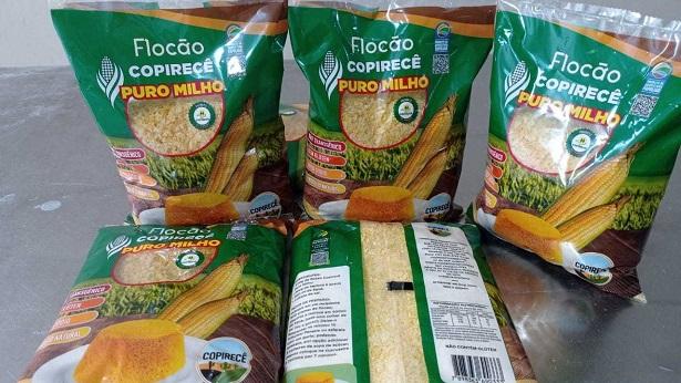 Irecê: Nova embalagem de Flocão de Milho da agricultura familiar traz selo baiano e QR Code - morro-de-sao-paulo, irece, bahia