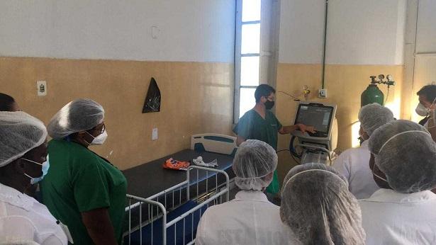 Nazaré: Equipe da Santa Casa passa por treinamento para uso de respiradores e drogas vasoativas - noticias, nazare