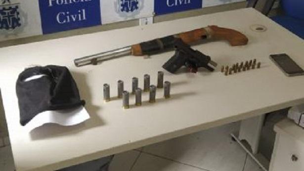 Castro Alves: Polícia frustra grupo armado e prende homem com passagem por tráfico - policia, destaque, castro-alves, bahia