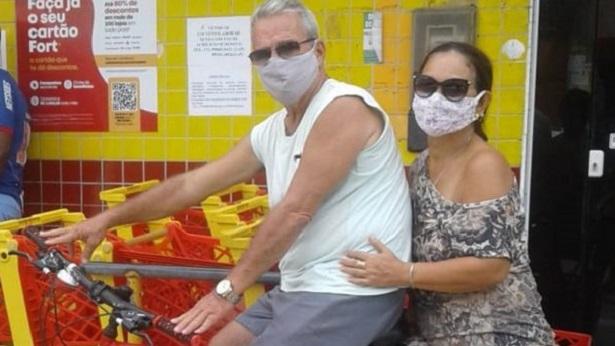 Sem carro, cruzalmense usa bicicleta para se vacinar contra a Covid em Salvador - noticias, cruz-das-almas