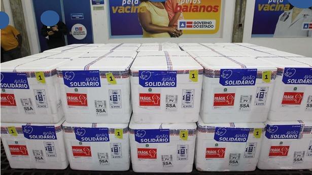 Chegam à Bahia mais 456 mil doses de vacina contra Covid-19 - bahia