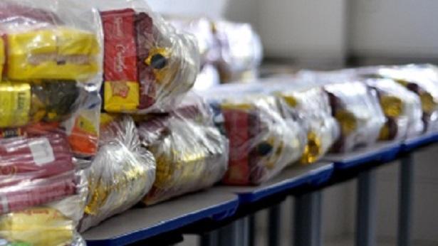 SAJ: Escola Municipalizada Florentino Firmino de Almeida entrega kits da merenda escolar - saj, destaque