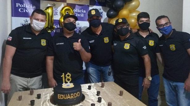 Cruz das Almas: Jovem comemora aniversário com tema Polícia Civil - policia, noticias, cruz-das-almas, bahia