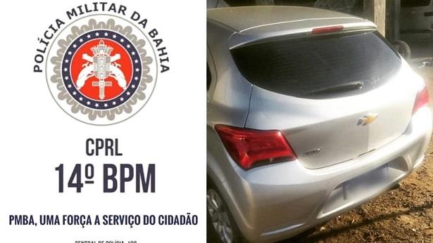Nazaré: Carro com restrição de roubo é recuperado pela PM - nazare, destaque, bahia