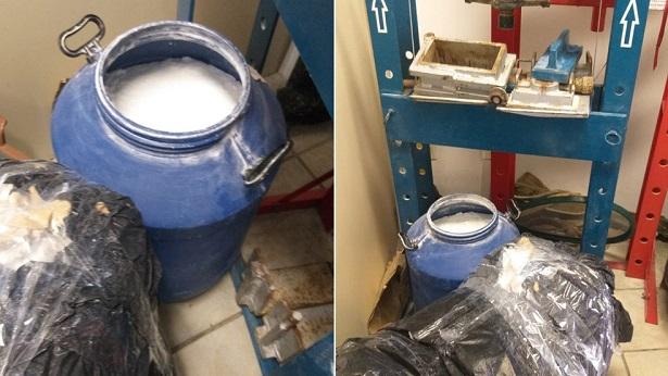 Camaçari: Ação policial apreende 50 quilos de cocaína em laboratório - destaque, camacari, bahia