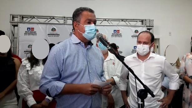 Em Amargosa, Rui pede a baianos para evitarem aglomerações durante festejos juninos - amargosa
