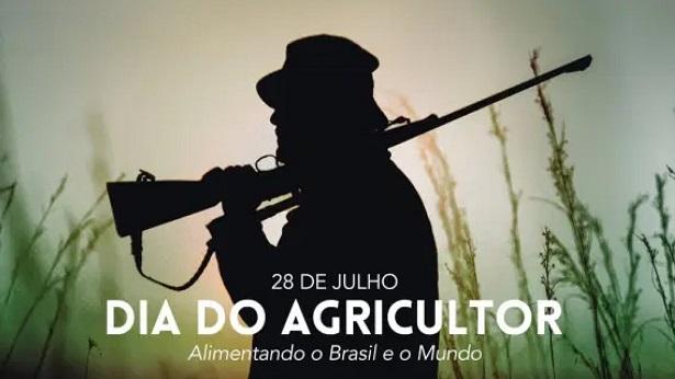 Governo Federal faz homenagem ao Dia do Agricultor com foto de homem armado - internet