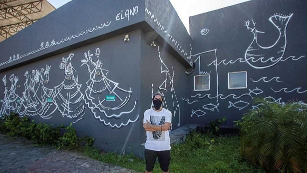 Lauro de Freitas: Elano Passos assina intervenção artística urbana de 160 m2 - noticias, lauro-de-freitas, arte