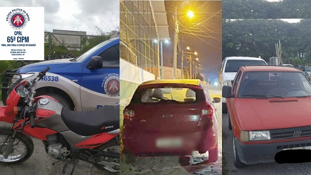 Feira de Santana: Polícia Militar recupera em 48 horas três veículos roubados - noticias, feira-de-santana, bahia