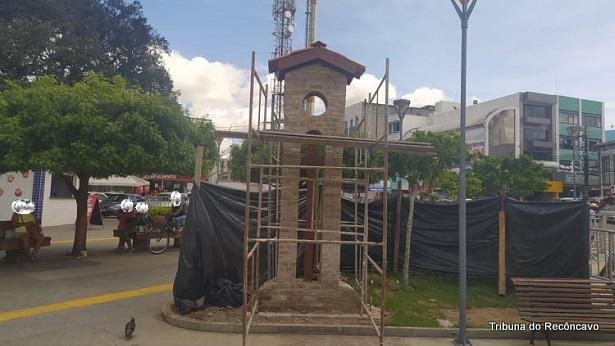 Marco zero é reconstruído e Praça Padre Mateus ganhará coração com letreiro SAJ - saj, noticias, destaque