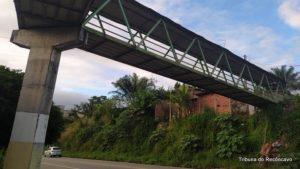 SAJ: Estrutura de passarela apresenta pontos de ferrugem - saj, noticias, destaque