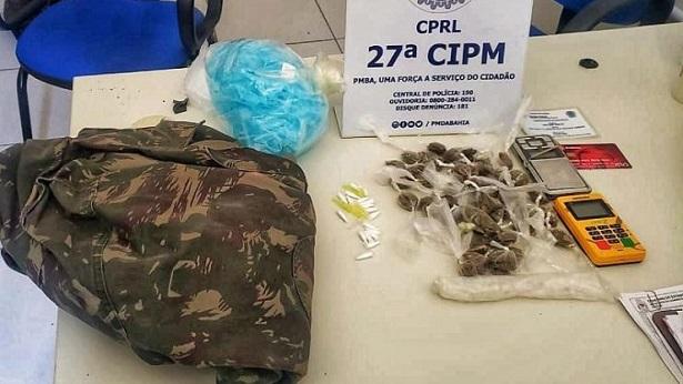 Maragogipe: Polícia Militar apreende drogas no distrito de Coqueiros - maragojipe, destaque, bahia