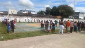 Vacinação de 2ª dose é marcada por aglomeração em Santo Antônio de Jesus - saj, noticias, destaque