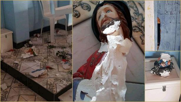 Imagens de santos são quebradas em capela no município de Santa Terezinha - santa-teresinha, noticias, destaque
