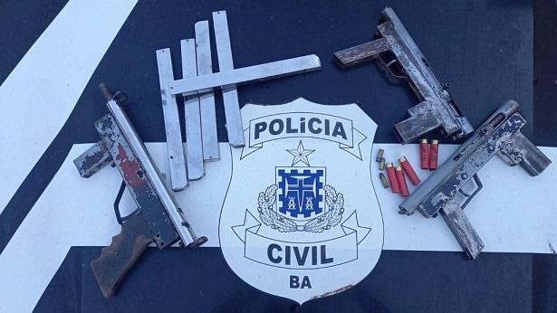 Ilhéus: Polícia apreende três submetralhadoras em imóvel - policia, ilheus, bahia