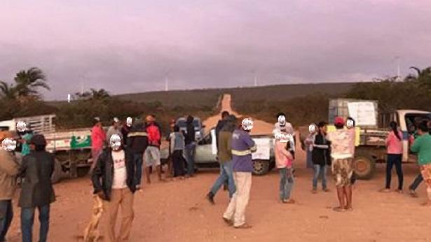 Campo Formoso: Moradores de comunidade tradicional protestam contra eólica - campo-formoso, bahia