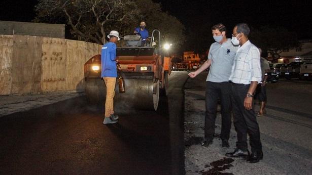 SAJ: Município inicia obra de asfaltamento na avenida Barros e Almeida - saj, noticias