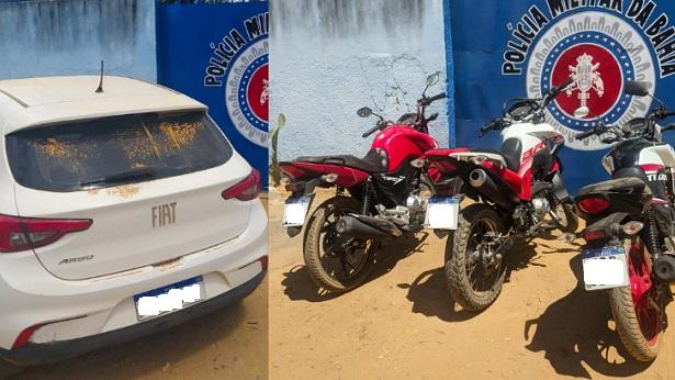 Santa Rita de Cássia: 11 carros e motocicletas são recuperados pela PM - santa-rita-de-cassia, noticias, bahia