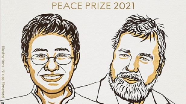 Jornalistas Maria Ressa e Dmitry Muratov recebem Nobel da Paz - mundo