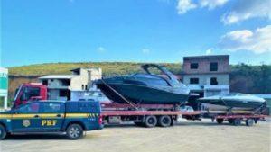 Mutuípe: PRF apreende barcos de luxo transportados de forma irregular - policia, mutuipe, destaque, bahia