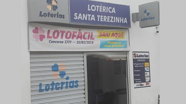 Santa Terezinha: Lotérica é arrombada na madrugada de sábado, 23 - santa-teresinha, bahia